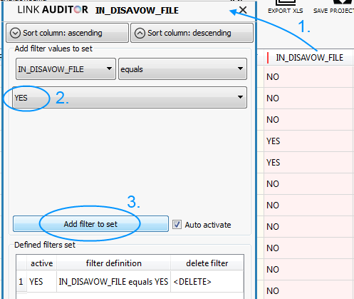 Disavow file review